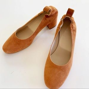 Everlane Tan Suede Day Heel